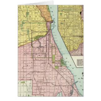 Chicago Railway Terminal Map Greeting Card