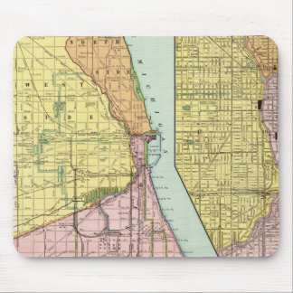 Chicago Railway Terminal Map Mouse Pad