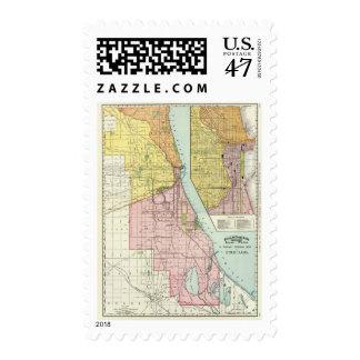 Chicago Railway Terminal Map Postage