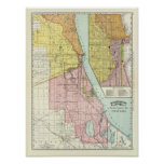 Chicago Railway Terminal Map Poster