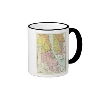 Chicago Railway Terminal Map Ringer Coffee Mug