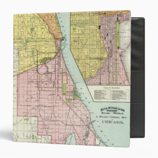 Chicago Railway Terminal Map Vinyl Binders