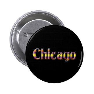 chicago rainbow pinback button