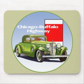Chicago - rastro auto nacional de la carretera del alfombrillas de raton