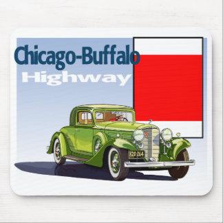 Chicago - rastro auto nacional de la carretera del tapete de ratones