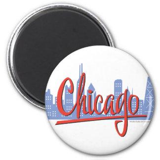 CHICAGO-RED 2 INCH ROUND MAGNET