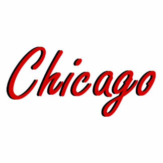 Chicago Red and Black Cutout