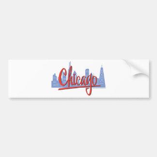 CHICAGO-RED BUMPER STICKER