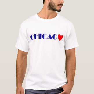 Chicago red heartwood of beech blue letters T-Shirt