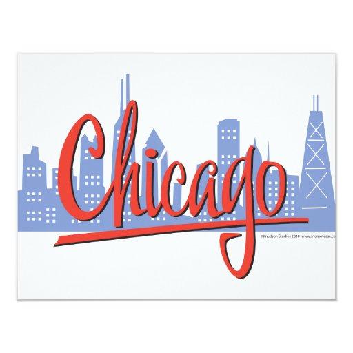"""CHICAGO-RED INVITACIÓN 4.25"""" X 5.5"""""""
