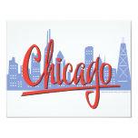 CHICAGO-RED INVITACIONES PERSONALIZADA