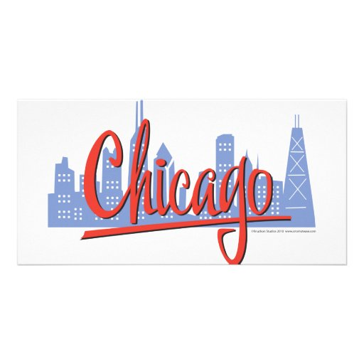 CHICAGO-RED PHOTO CARD