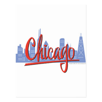 CHICAGO-RED POSTCARD
