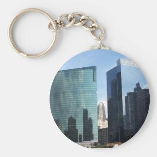 Chicago Reflections Basic Round Button Keychain