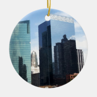 Chicago Reflections Double-Sided Ceramic Round Christmas Ornament