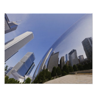 Chicago Reflections Poster