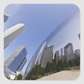 Chicago Reflections Square Sticker