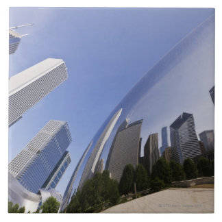 Chicago Reflections Large Square Tile