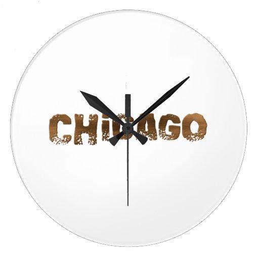 Chicago Reloj Redondo Grande