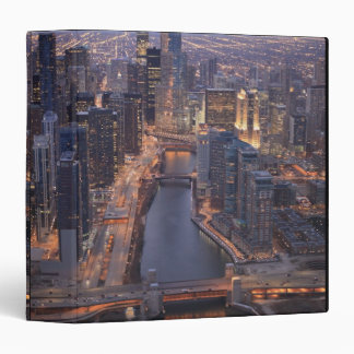 Chicago River and Trump Tower from above 3 Ring Binders