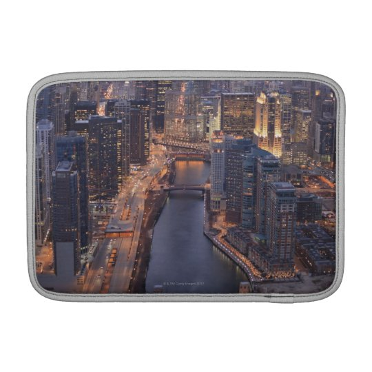 Chicago River and Trump Tower from above MacBook Air Sleeve