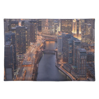 Chicago River and Trump Tower from above Place Mats