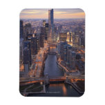Chicago River and Trump Tower from above Rectangular Photo Magnet