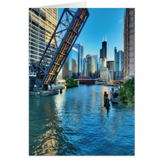 Chicago River and Willis Tower Card