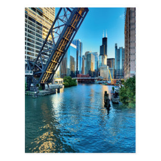 Chicago River and Willis Tower Postcard