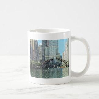 Chicago River Columbus Drive Boat Scene Coffee Mug