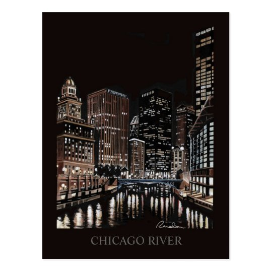 Chicago River Fine Art Randsom Art Postcard