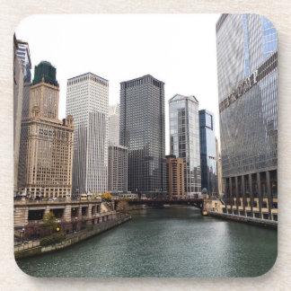 Chicago River in November Beverage Coaster