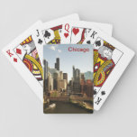 "Chicago River in the Loop Playing Cards<br><div class=""desc"">A stunning view of downtown Chicago along the South Branch of the Chicago River,  highlighting the river,  its bridges,  and buildings including the Willis Tower (Sears Tower).</div>"