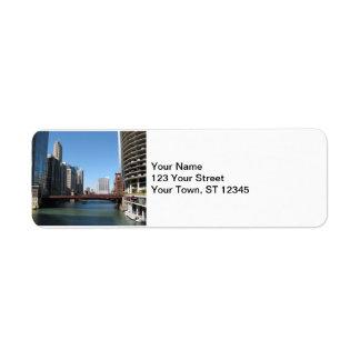 Chicago River Return Address Label