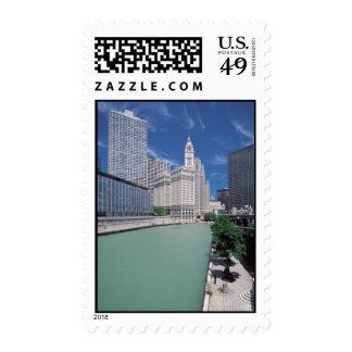 Chicago River Landscape Postage
