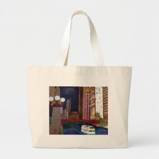 Chicago River Large Tote Bag