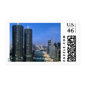 Chicago River Postage Stamps