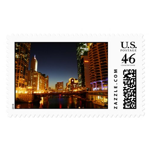 Chicago River Postage