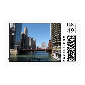 Chicago River Postage Stamp