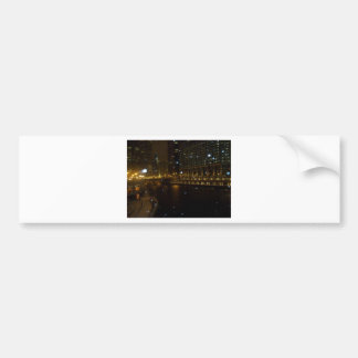 Chicago River walk along Michigan Ave. Bumper Sticker