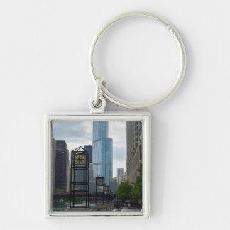 Chicago River Walk Keychain