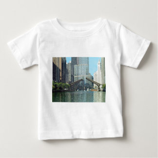 Chicago River Westward View Baby T-Shirt