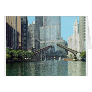 Chicago River Westward View Card