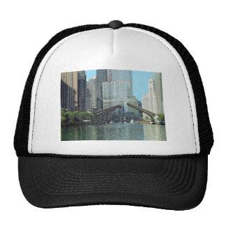 Chicago River Westward View Mesh Hats