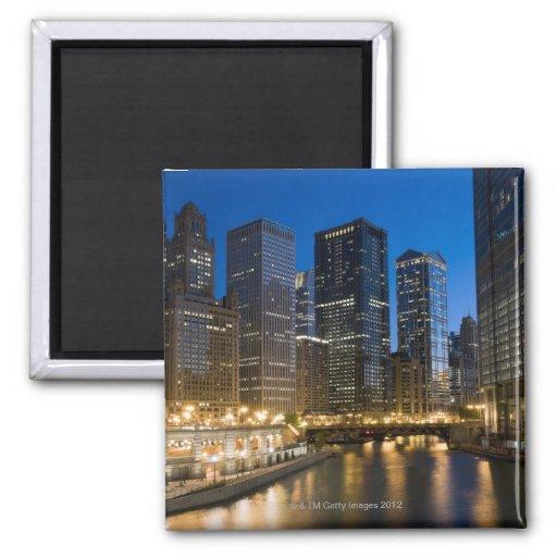 Chicago Riverfront Fridge Magnet