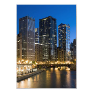 Chicago Riverfront 5x7 Paper Invitation Card