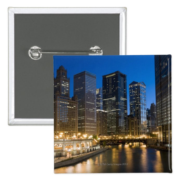 Chicago Riverfront Pinback Button