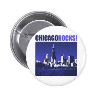 Chicago Rocks! Pinback Button