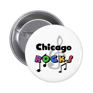 Chicago Rocks Pinback Button