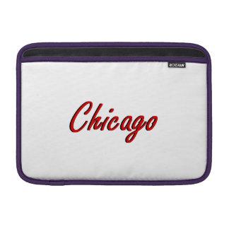 Chicago roja y negra fundas para macbook air